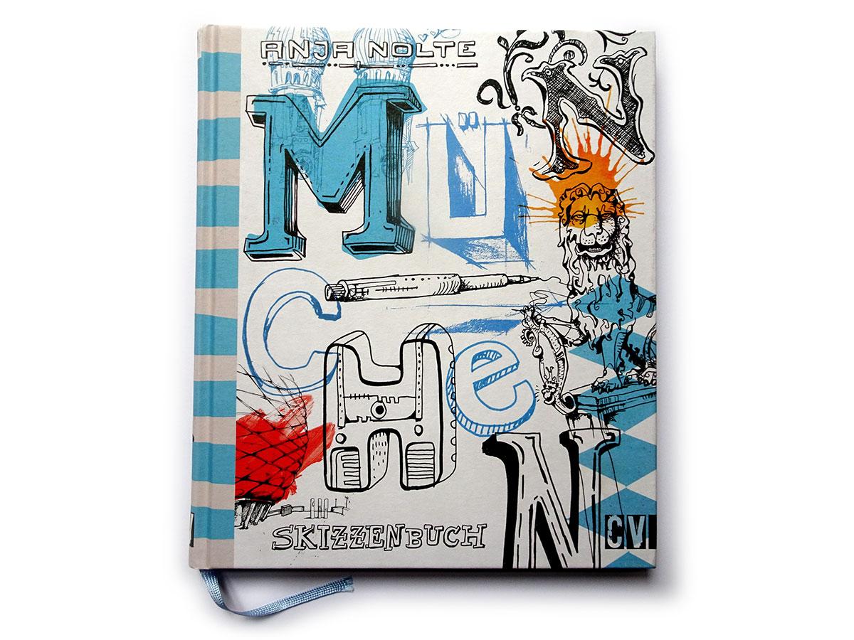 Urban Sketching München Cover, erschienen bei Christophorus Verlag © Anja Nolte www.anjanolte.com