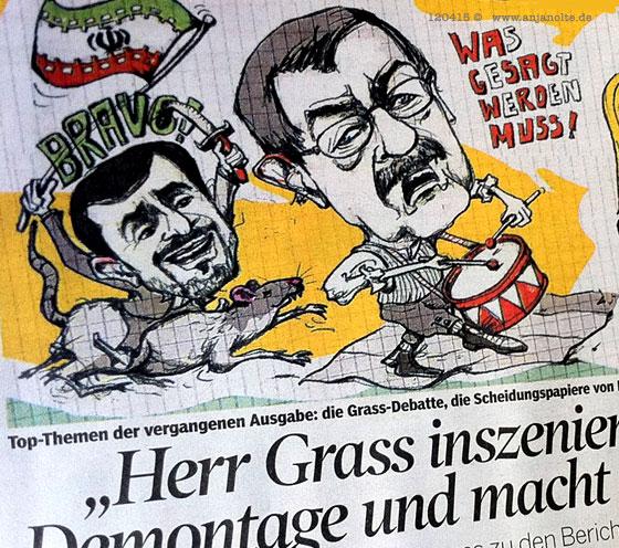 Illustration zu Günter Grass, Israel Gedicht