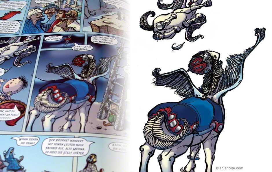 Comic über das Leben Mohammeds Paul und die Weltreligionen Islam © Anja Nolte