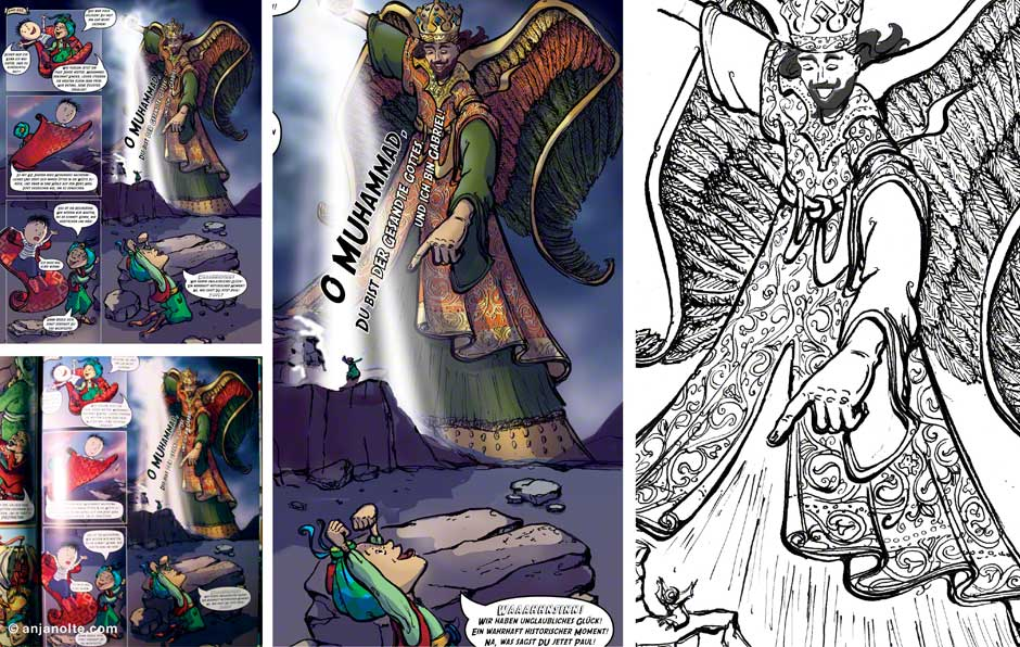 Die Offenbarung - Comic Leben des Propheten Grundregeln des Islam 5 Säulen © Anja Nolte