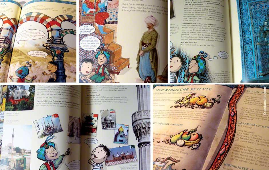 Fotos Paul und die Weltreligionen Islam Blick ins Buch Illustration Anja Nolte
