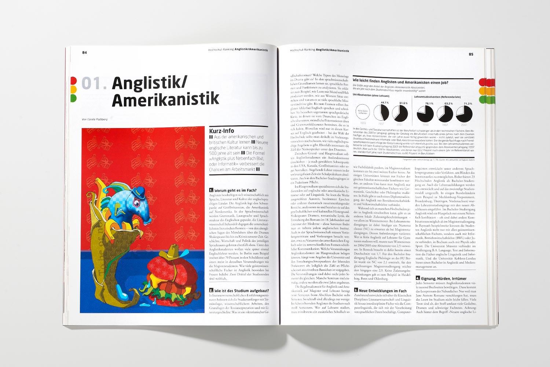 DIE ZEIT Studienführer Anglistik Amerikanistik Illustration Anja Nolte © www.anjanolte.com
