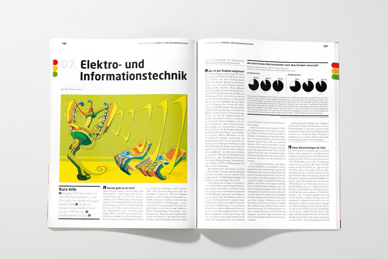 DIE ZEIT Studienführer Elektrotechnik InformationstechnikIllustration Anja Nolte © www.anjanolte.com