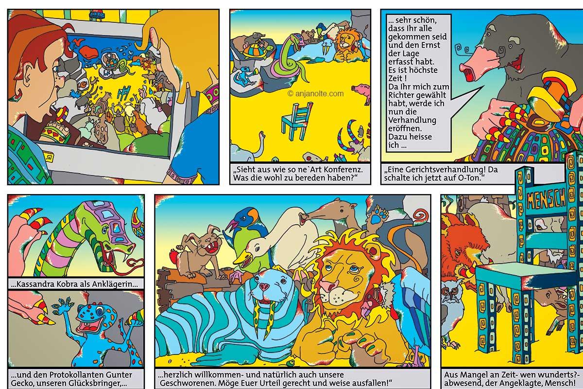 Tribunal der Tiere Comic