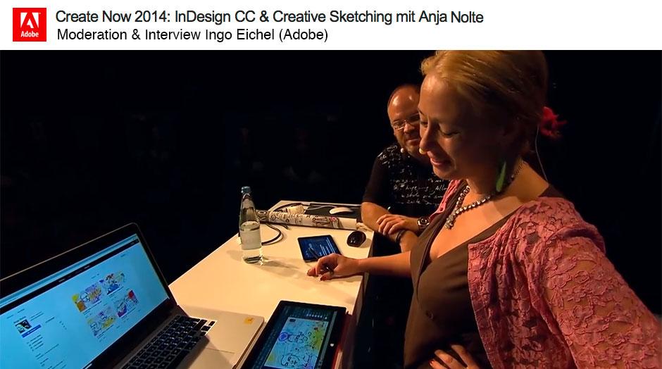 Anja Nolte bei Adobe Create Now mit Ingo Eichel