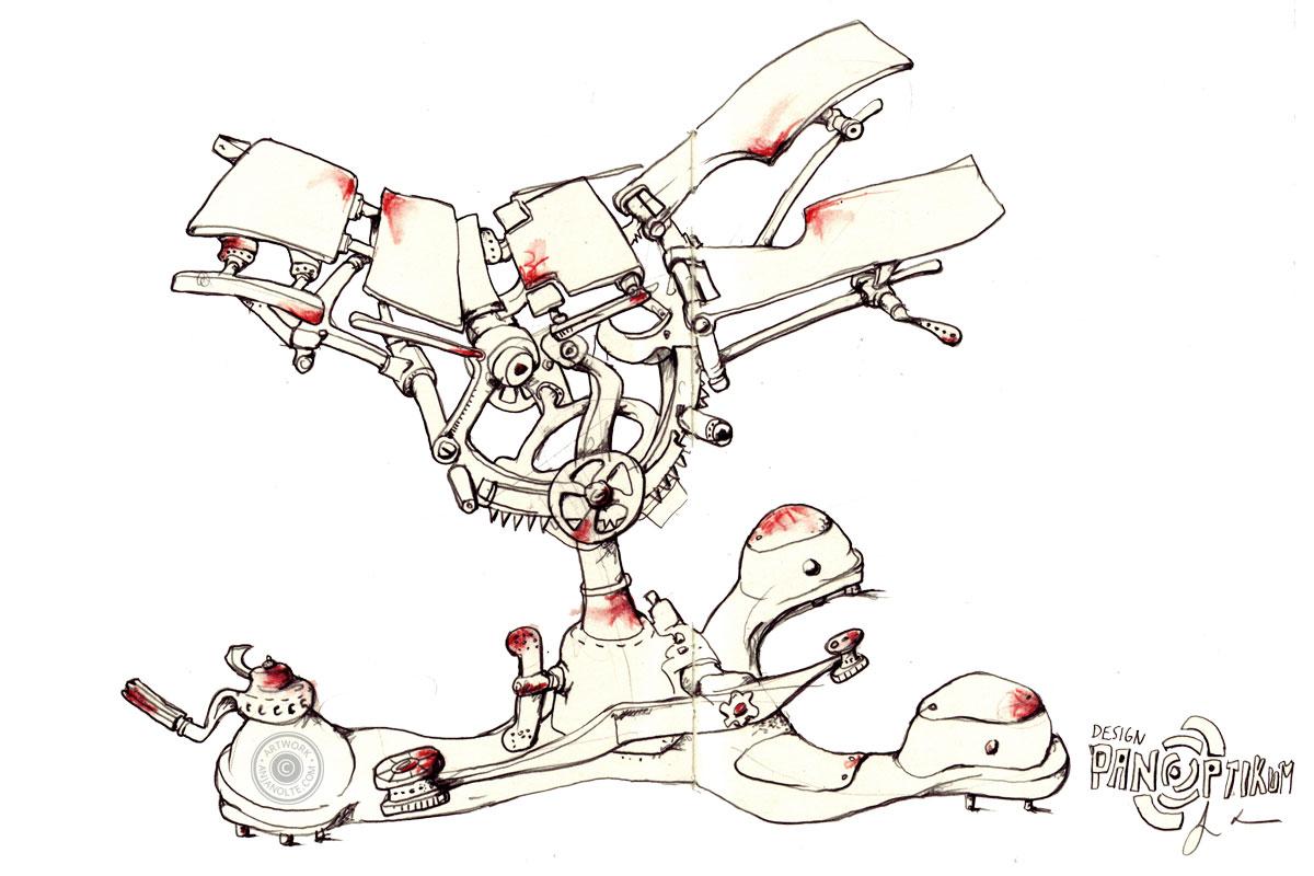 Zeichnung aus dem Design Panoptikum Berlin