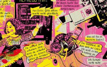 Graphic Novel Der Besuch der alten Dame frei nach Friedrich Dürrenmatt im Auftrag des Kulturmagazin Du © Illustration Anja Nolte www.anjanolte.com © Text Friedrich Dürrenmatt
