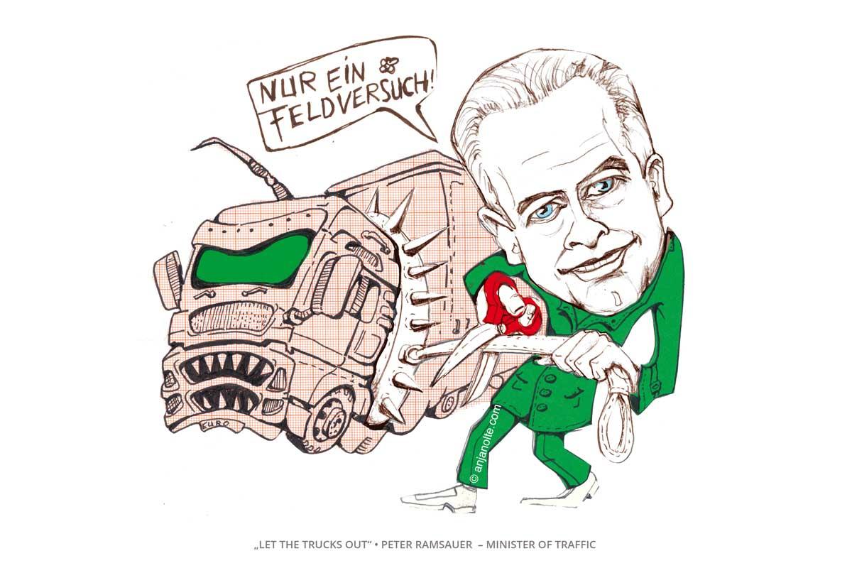 Mega Trucks Ramsauer Karikatur