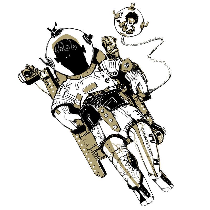 Astronaut - Detail aus