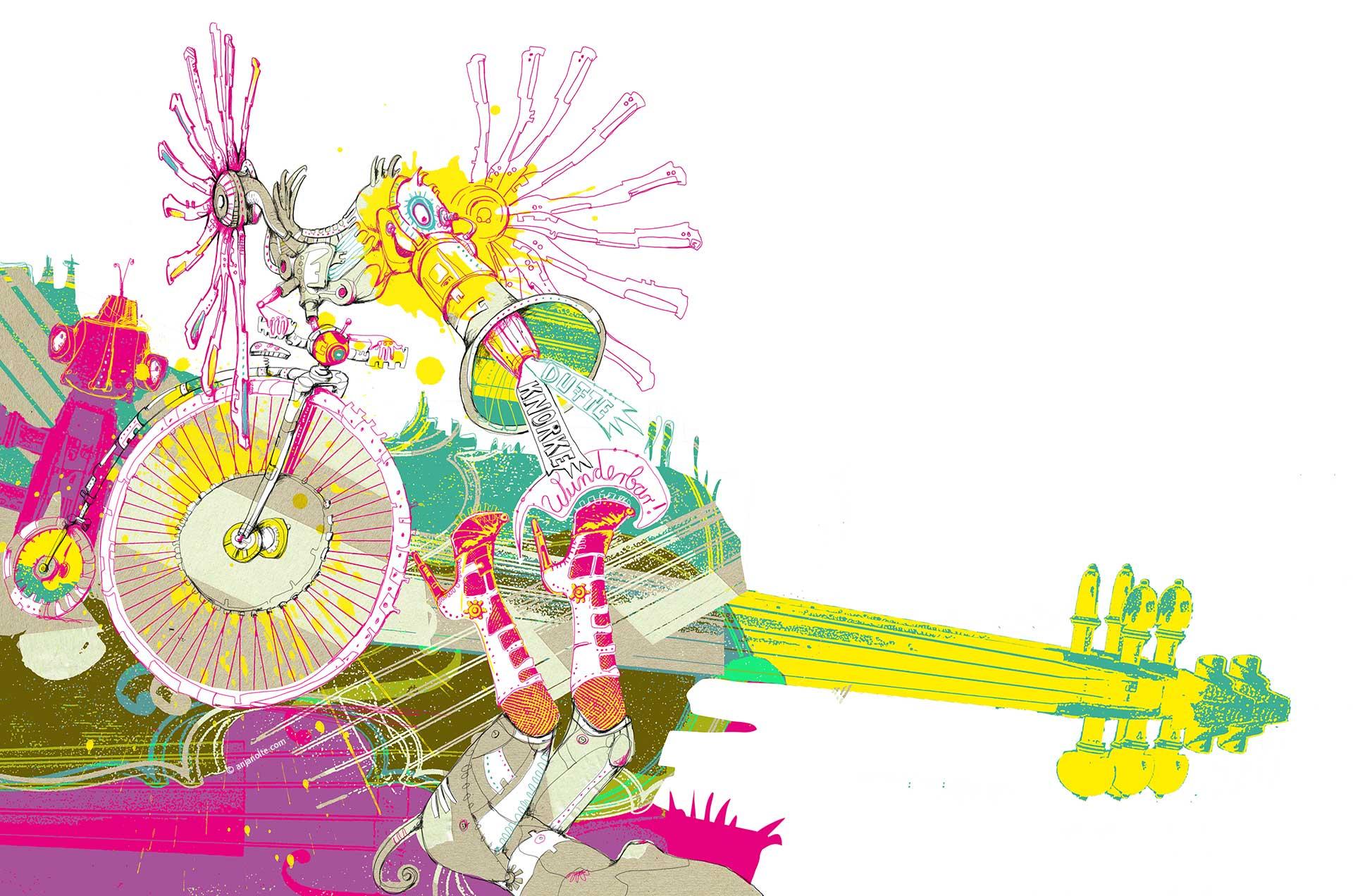 CD Premier Swingtett Waltz-a-tza © Artwork Anja Nolte www.anjanolte.com