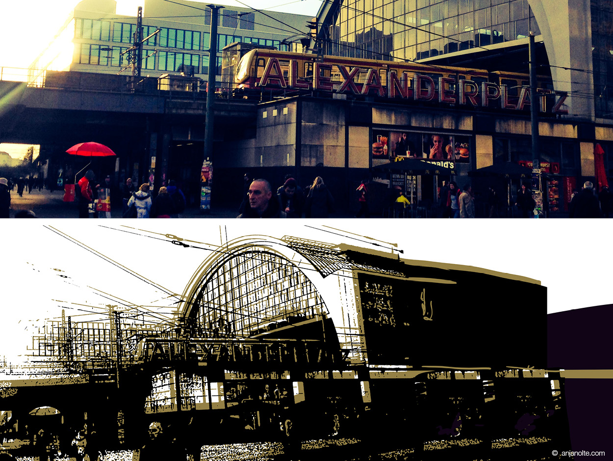 Berlin Alexanderplatz - Demonstration Mobile Workflow with Creative Could by Anja Nolte