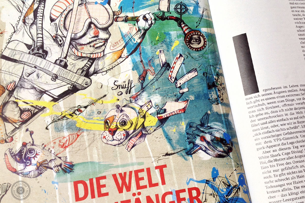 Illustration Anja Nolte für DB Mobil Magazin