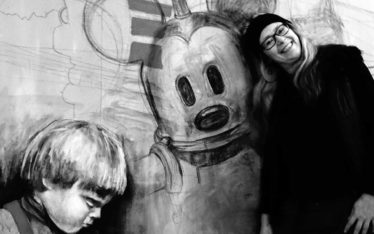"Anja Nolte mit Work in progress ""Me,me and Mickey"""