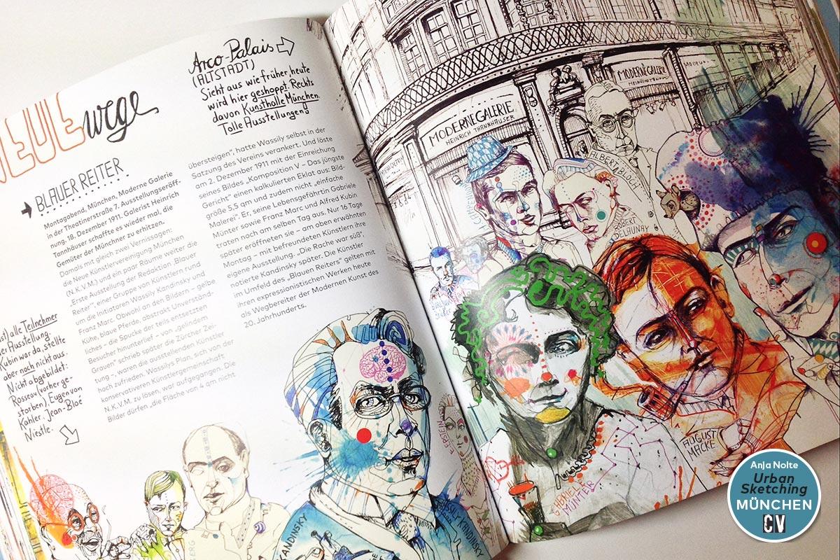 Award of excellence Anja Nolte Urban Sketching München Blauer Reiter Creative Quarterly