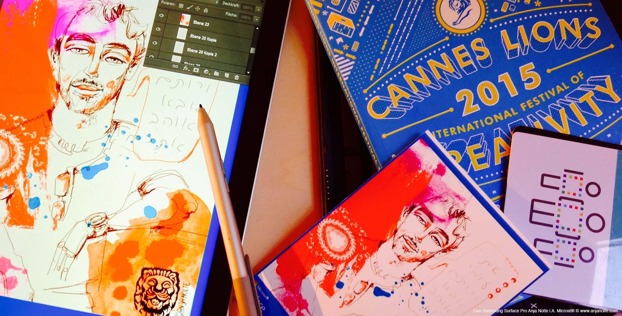 Anja_Nolte_Live-Zeichnen_Cannes_Fototablet