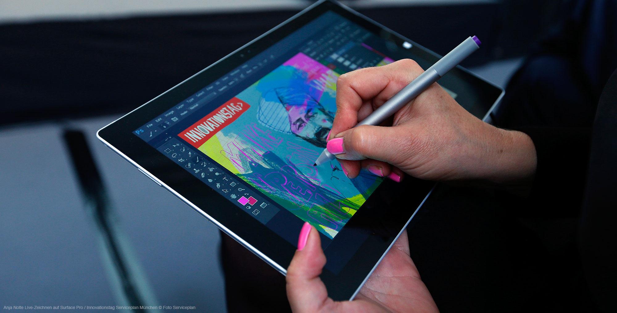 Live-Zeichnen / Graphic Recording Anja Nolte für Serviceplan München am Innovationstag