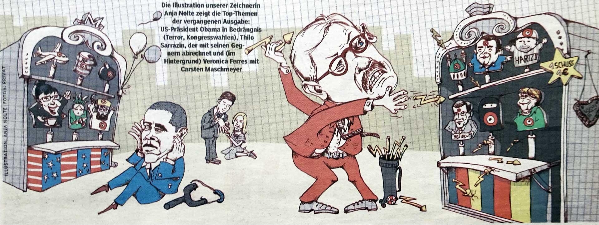 Topthema Obama Karikatur Anja Nolte