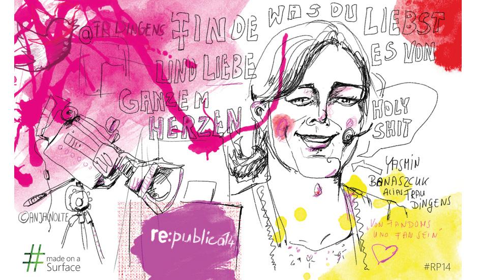 Live-Zeichnen Graphic Recording Republica Anja Nolte i.A. Microsoft