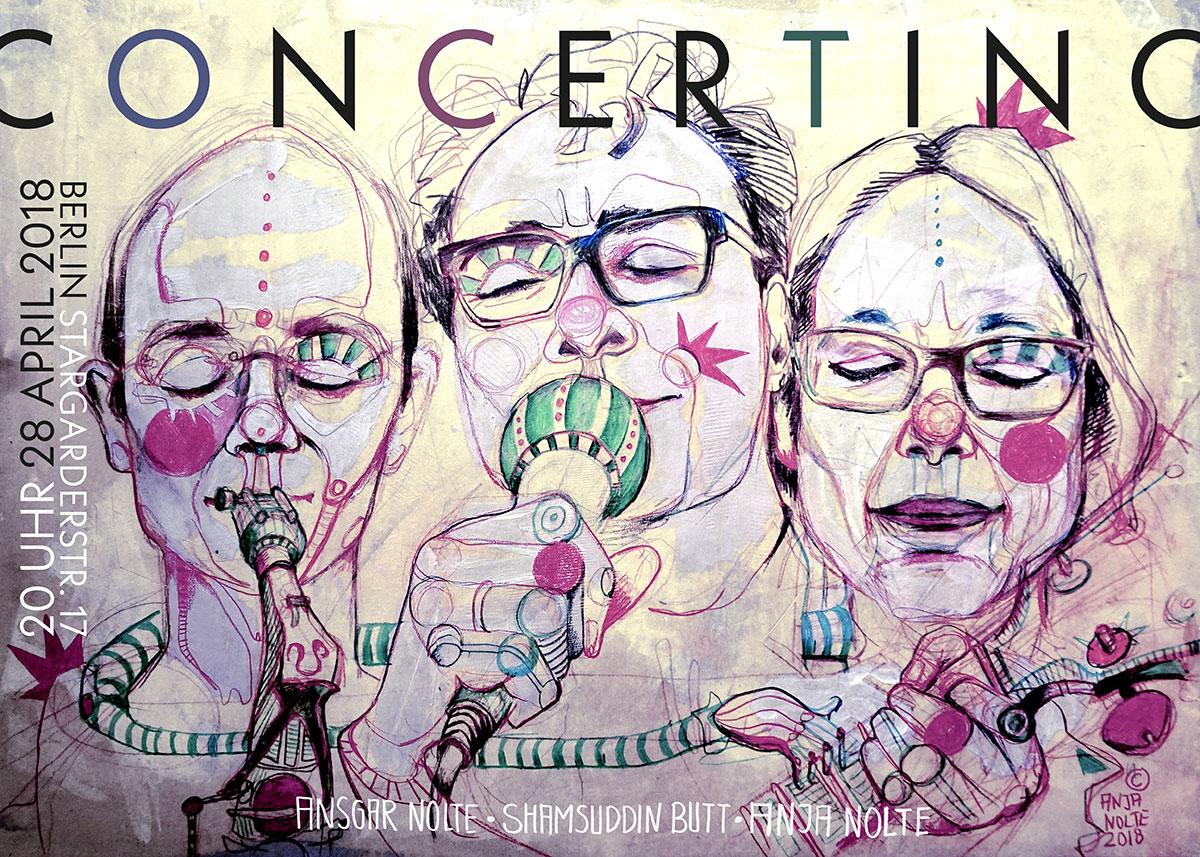 © Artwork Anja Nolte Plakat Concertino