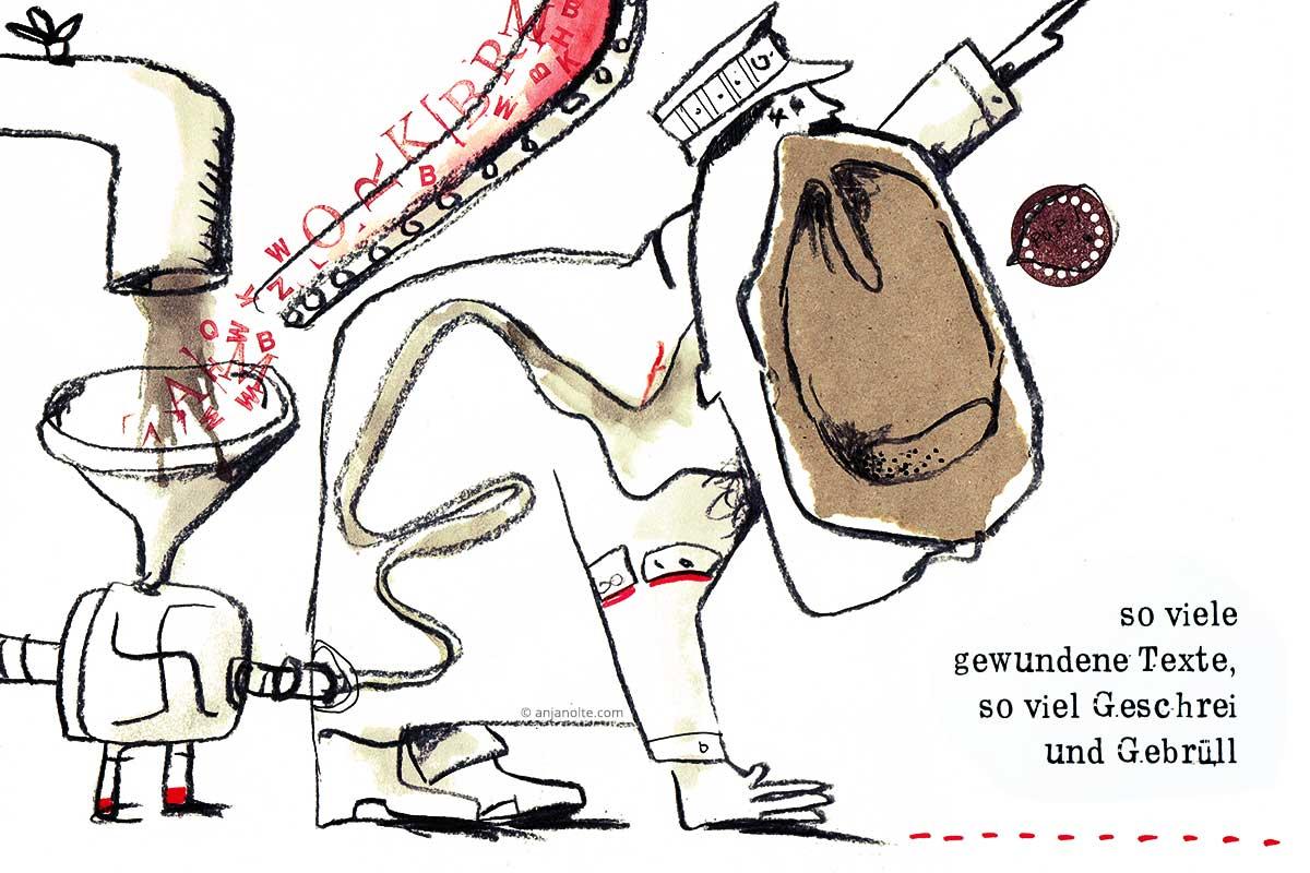 Gegen das vergessen. Artwork aus dem Buch Berlinballade von Wilhelm und Anja Nolte