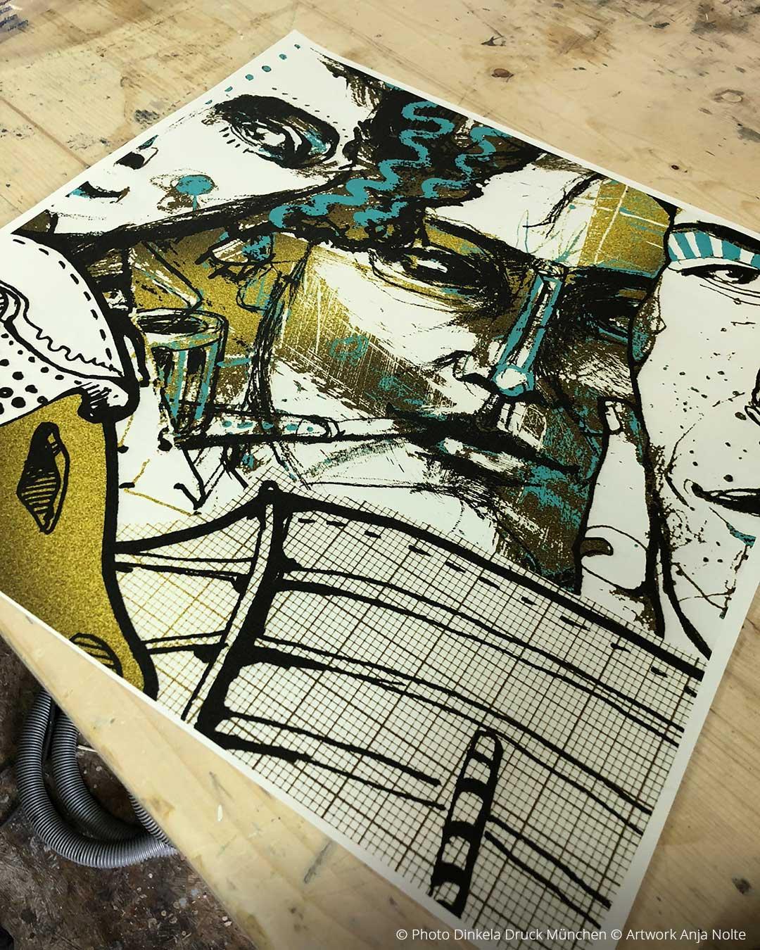 Testproof Grossformatdruck © Artwork & IllustrationAnja Nolte