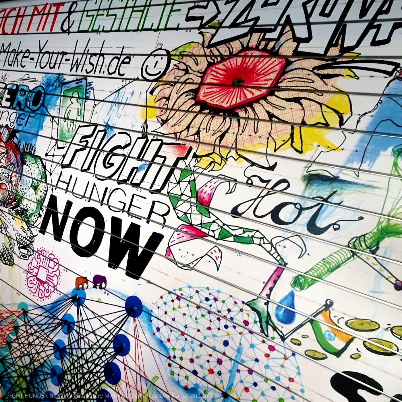 Artwork from Anja Nolte in Digital Eatery Microsoft Berlin