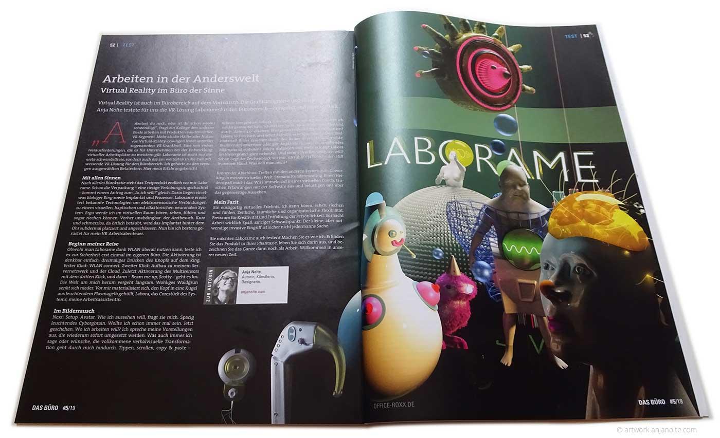 Testbericht zur virtual reality software LABORAME von Anja Nolte für das Magazin