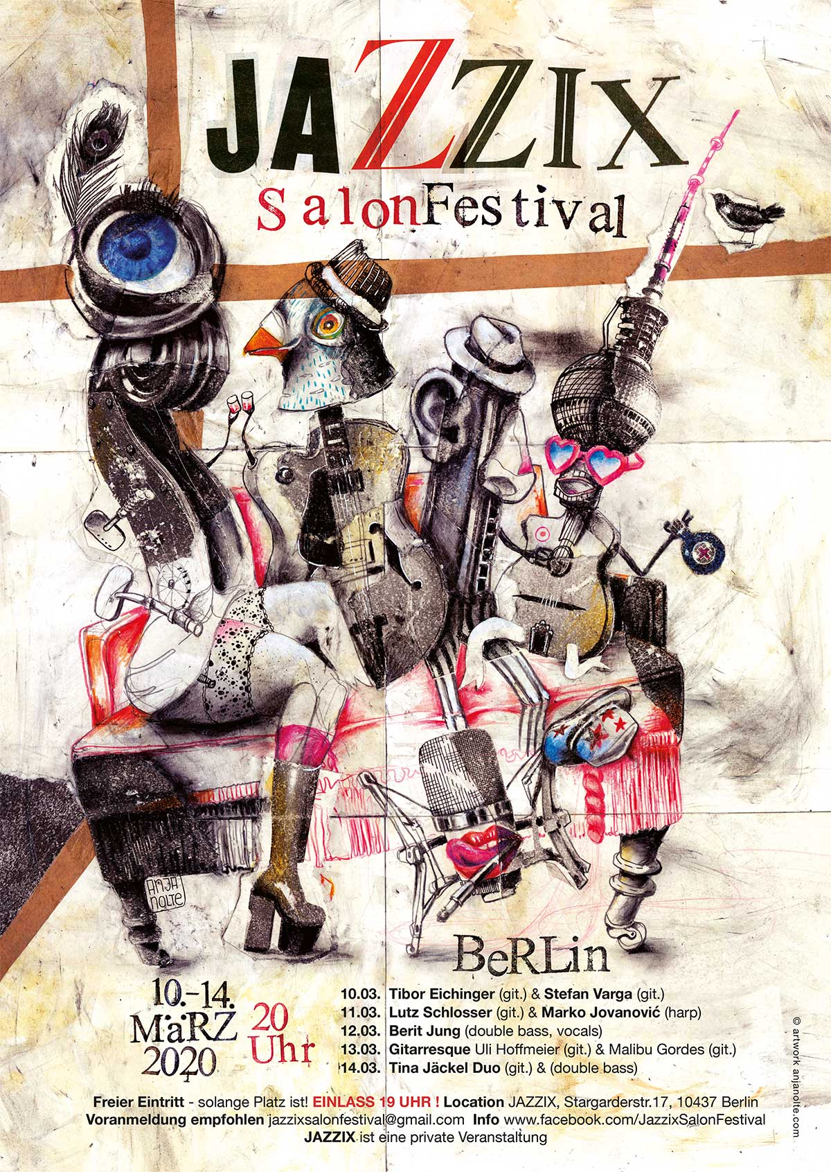 JAZZIX SalonFestival 2020 Illustration Anja Nolte